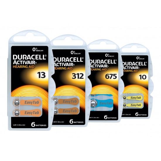 Piles Audives DURACELL Activair 312 - 1 plaquette