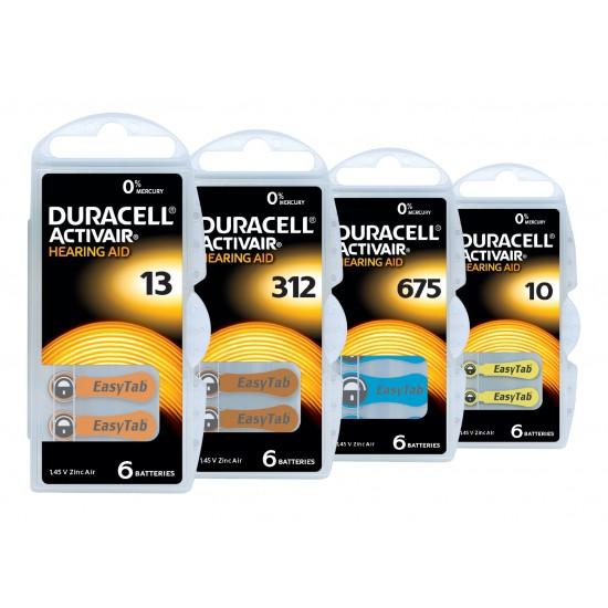 Pile Auditive DURACELL Activair 675 - 1 plaquette