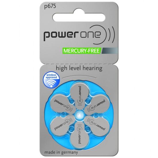 Piles auditives POWER ONE 675 - 1 plaquette