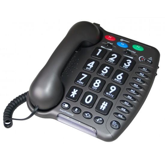 Téléphone amplifié à grosses touches Amplipower 50 Geemarc